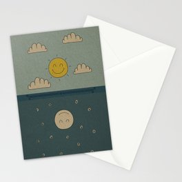 Good Day, Good Night Stationery Cards