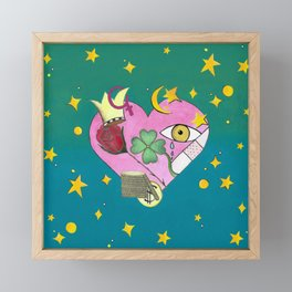 Love luck and destiny modern art, contemporary art hand painted by chulitad Framed Mini Art Print