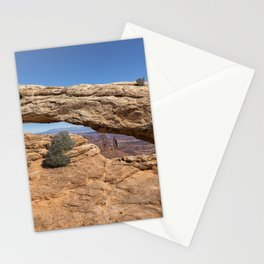Clear Day at Mesa Arch - Canyonlands National Park Stationery Cards