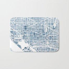 Washington DC Blueprint watercolor map Bath Mat