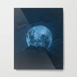 Moon Over Misty Mountain Metal Print