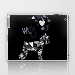 I love my schnauzer (b&w) Laptop & iPad Skin