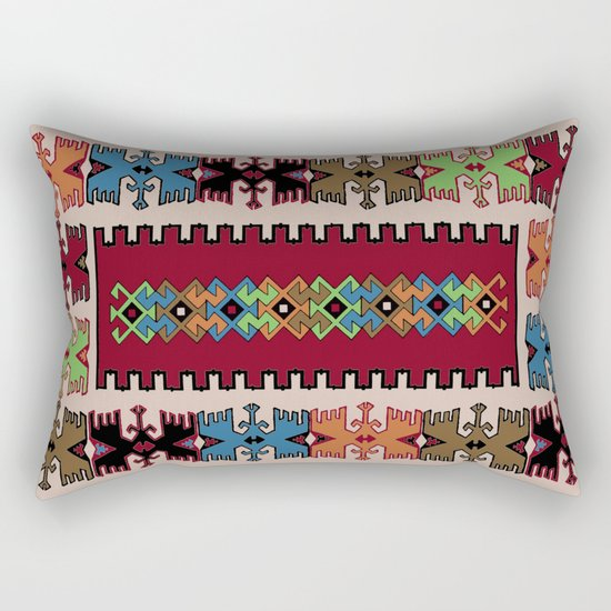 Kilim pattern 026 Rectangular Pillow