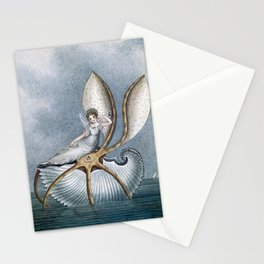 """""""Fairy Resting On A Shell"""" by Amelia Jane Murray Stationery Cards"""