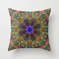 Hallucination Mandala 1 Throw Pillow