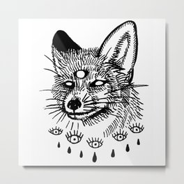 what the fox sees Metal Print