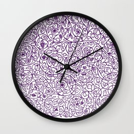 Floral Pattern - Medieval Swirls Wall Clock