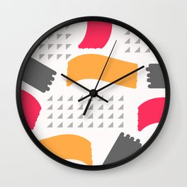 Modern triangles and happy colors Wall Clock