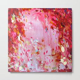 Hot pink, bright red, orange, gold - Abstract #30 Metal Print