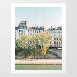 River Seine in Paris, France | Saint Louis, Paris | Parisian Buildings | Travel Photography Art Print