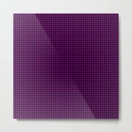 Large Zombie Purple and Black Hell Hounds Tooth Check Metal Print