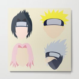 naruto Team 7 Metal Print
