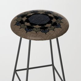 Lotus Mandala on Fabric Bar Stool