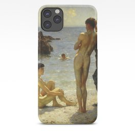 Lovers of the Sun by Henry Scott Tuke iPhone Case