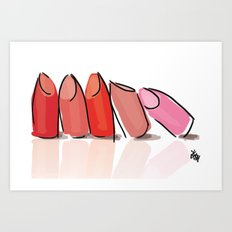 Lipsticks Art Print