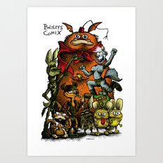 Balsley's Comix (poster) Art Print