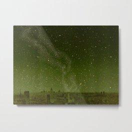 The sky and horizon above Paris Illustration from Le ciel; notions élémentaires d'astronomie physi Metal Print