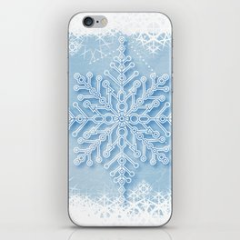 snow crystal iPhone Skin