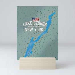 Lake George New York Map Mini Art Print