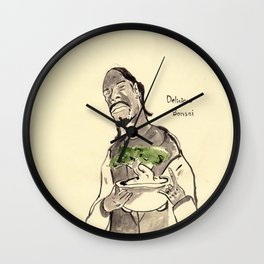 Snoop Dogg about to eat a Bonsai tree Wall Clock