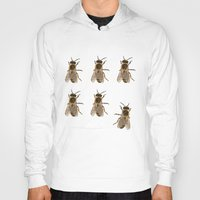 bees Hoodies featuring Bees  by Cécile Pellerin
