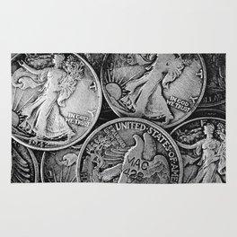 Walking Liberty Coins Rug