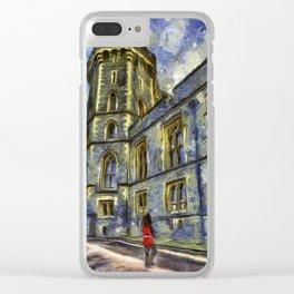Windsor Castle Coldstream Guard Art Clear iPhone Case