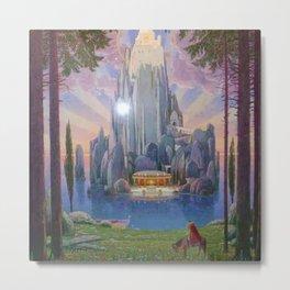 The Secret Kingdom magical realism landscape painting by Joseph Madlener Metal Print