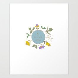 i love weeds Art Print