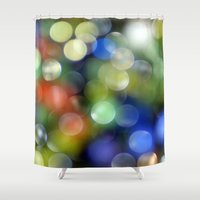 aperture Shower Curtains featuring Colorful Bokeh by ThePhotoGuyDarren