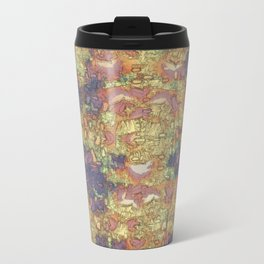Mineral Map - Abstract Art Metal Travel Mug