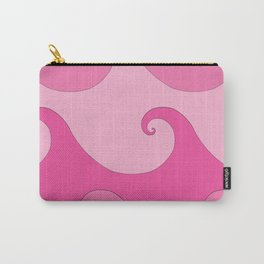 Spiral Waves Pink Carry-All Pouch