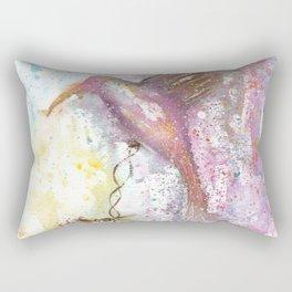 Hummingbird Watercolor Illustration Rectangular Pillow