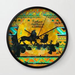 Timon, Pumbaa & Simba. Wall Clock