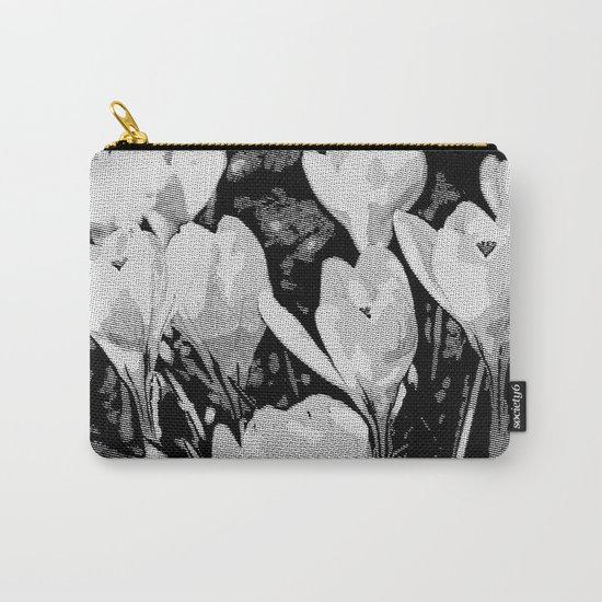Floral Art Studio 29216 B&W Carry-All Pouch