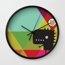 Woot! (Happy Dinosaur) Wall Clock