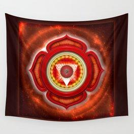 """Muladhara Chakra - Root Chakra - Series """"Open Chakra"""" Wall Tapestry"""