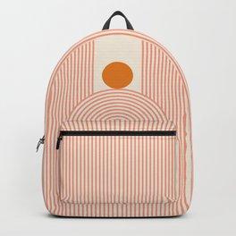 Abstraction_SUN_LINES_ILLUSION_VISUAL_ART_Minimalism_01B Backpack
