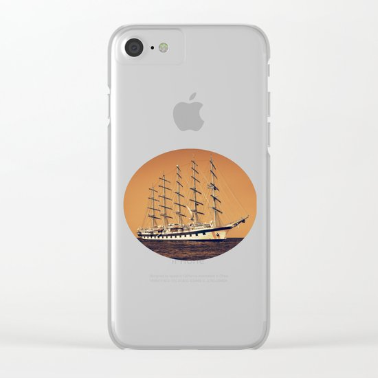 Old Ship Clear iPhone Case