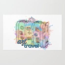 Art of travel Rug