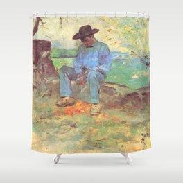 """Henri de Toulouse-Lautrec """"Le Jeune Routy à Céleyran"""" Shower Curtain"""