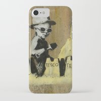 banksy iPhone & iPod Cases featuring Banksy on the beach by Shalisa Photography