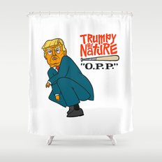 Trumpy by Nature Shower Curtain