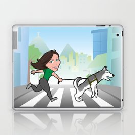 Walking with my dog Laptop & iPad Skin