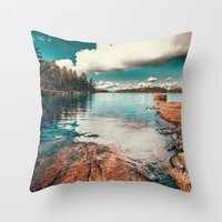 belle Throw Pillows featuring Belle Svezia by HappyMelvin
