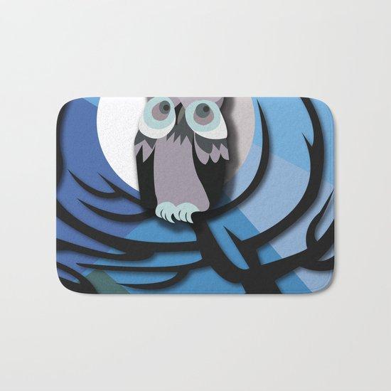 Moonlight Owl Bath Mat