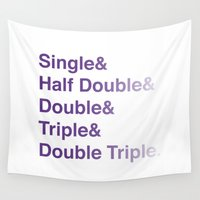 helvetica Wall Tapestries featuring Crochet Helvetica Ampersand Style by Corrie Jacobs