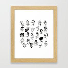 Shafted! Character sheet Framed Art Print