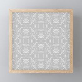 Thistles on Grey Framed Mini Art Print