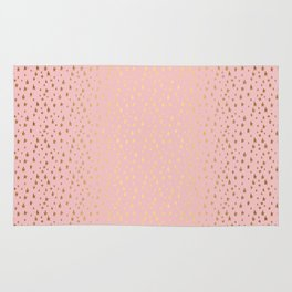 Gold and pink sparkling and shiny Stars pattern on #Society6 Rug